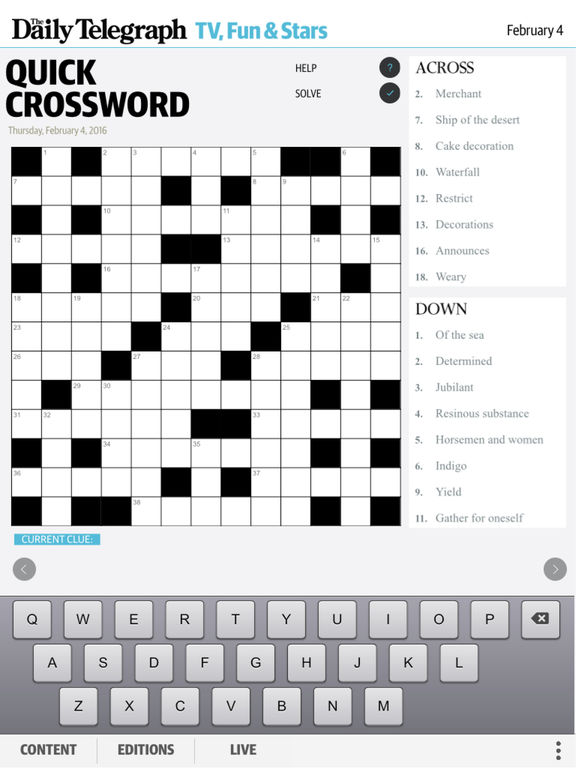 Information gleaned from a dating site crossword