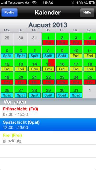 Mein Kalender für Alles (Urlaub/Ferien/Feiertage/Notizen/Dienste)