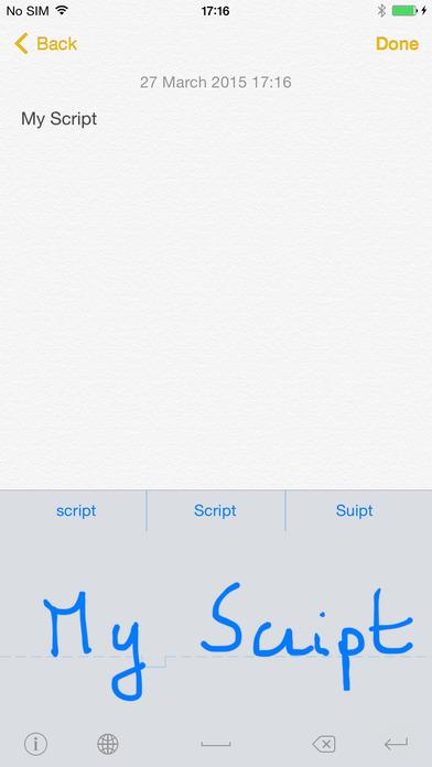 MyScript Stylus - Handwriting Keyboard Screenshot