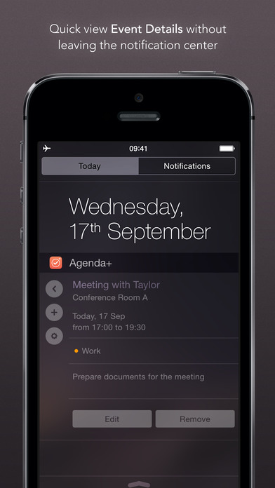 Agenda+ | Calendar & Reminder Widget Screenshot