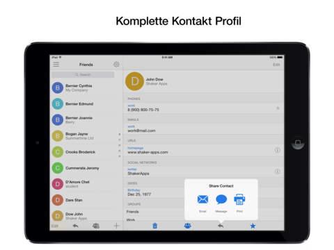 PhoneBook Pro Screenshot