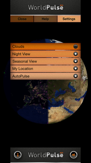 WorldPulse Earth Weather Clouds & Temperature Screenshot