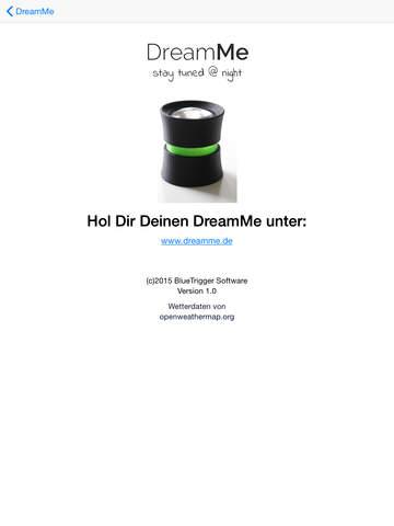 DreamMe Screenshot