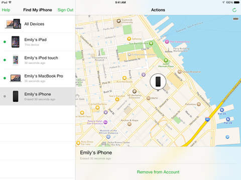 Buscar mi iPhone Screenshot