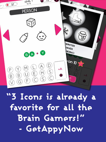 3 Icons 1 Word - Mind Puzzle Screenshot