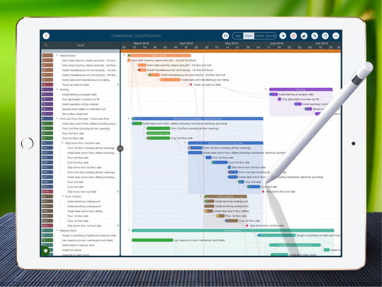 Quickplan pro project plan schedule management hd app for Project planner hd