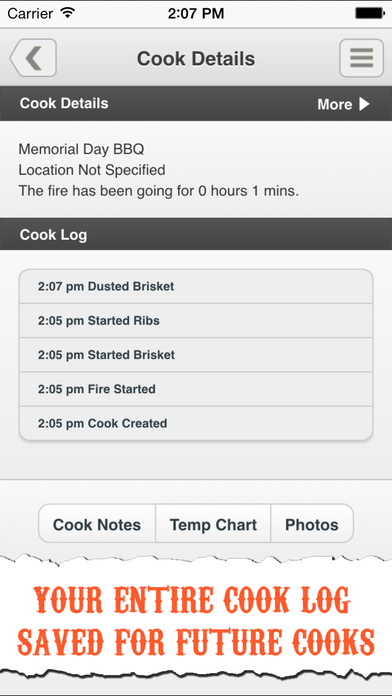 The Pit Pal BBQ App - Grill & Smoker Management and Barbecue Log Screenshot