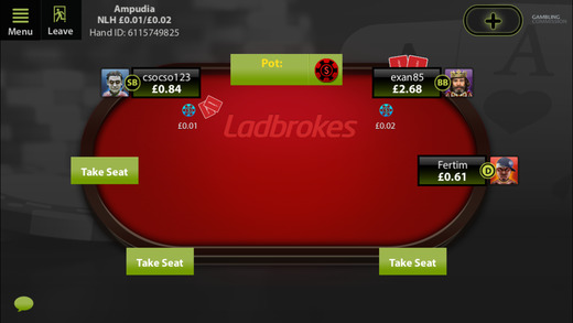 Ladbrokes new poker app