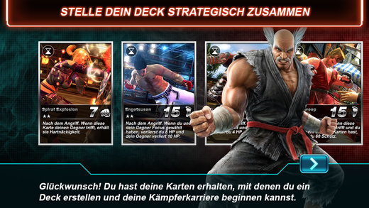 Tekken Card Tournament iPhone iPad