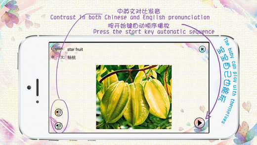 Chinese and English Vocabulary: audio and pictorial flashcards for kids Screenshots