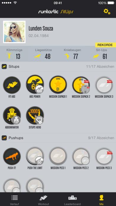 Runtastic Sit-Ups PRO Bauchmuskeln, Trainer + Workouts Screenshot