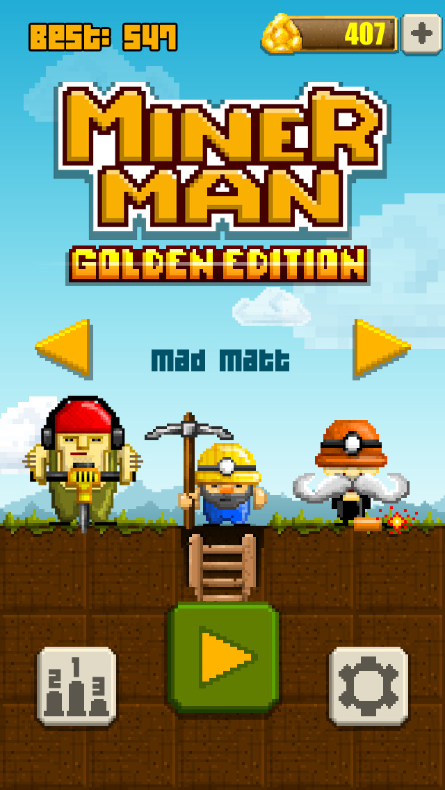 Miner Man Golden Edition iOS Screenshots