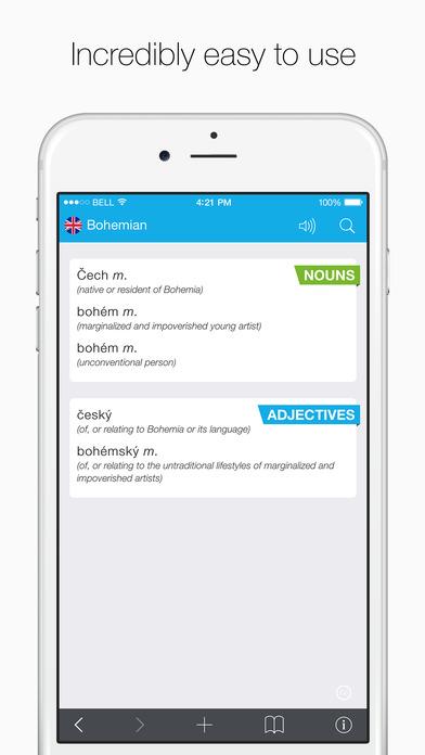 Translations: Czech - English Dictionary Screenshots