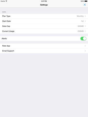 Data Widget Screenshot