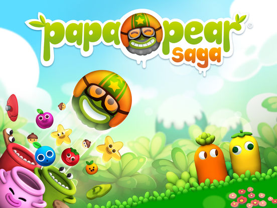 Papa Pear Saga iOS Screenshots