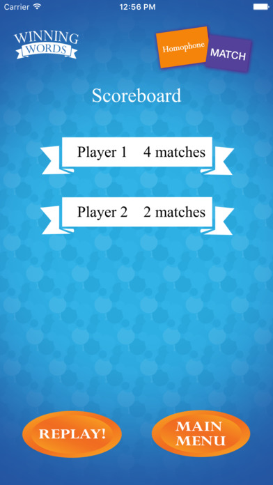 Homophone Match Screenshots