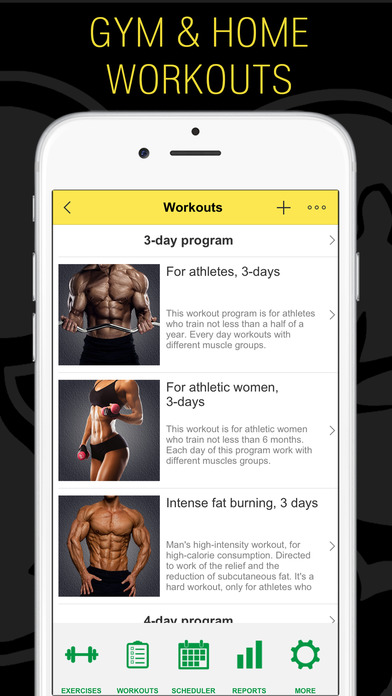 Fitness - Gym and Home Workout,my Exercise Journal Screenshot