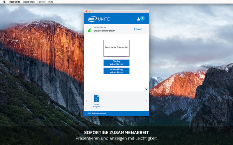 Intel® Unite™ Screenshot