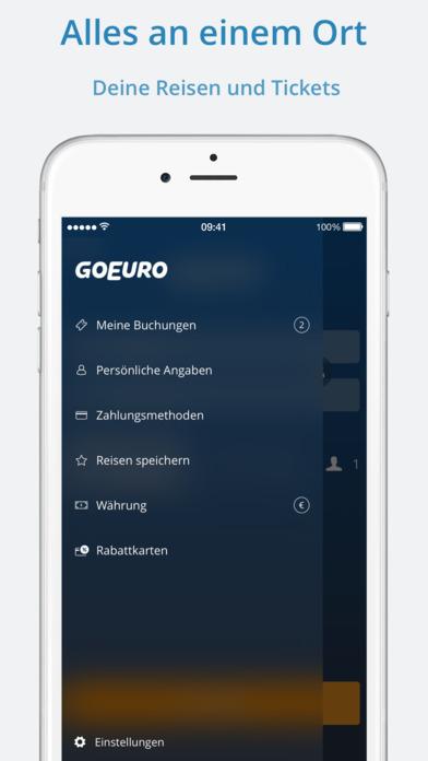 GoEuro: Bahn, Bus, Flug Screenshot
