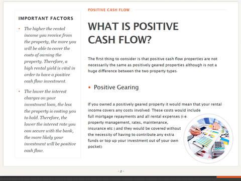how to find positive cash flow properties