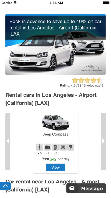 Thrifty Car Rental Airport Los Angeles