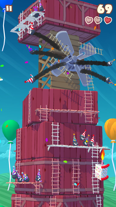Screenshot 1 Twisty Sky - Endless Tower Climber