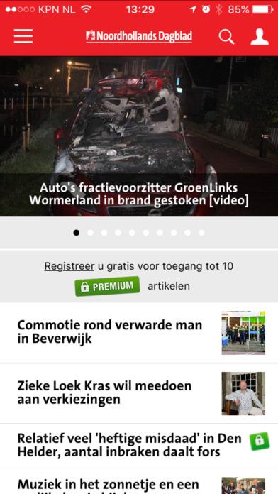 'Noordhollands Dagblad' in de App Store