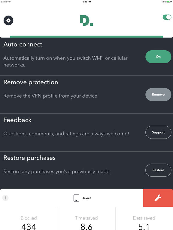 Disconnect Pro Privacy and Performance Screenshots