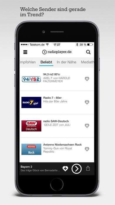 radioplayer die kostenlose radio app im app store. Black Bedroom Furniture Sets. Home Design Ideas