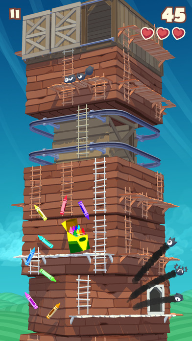 Screenshot 2 Twisty Sky - Endless Tower Climber