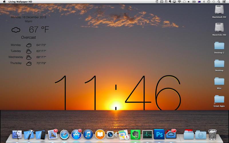 Live Wallpaper HD desktop weather screensaver on the Mac App Store
