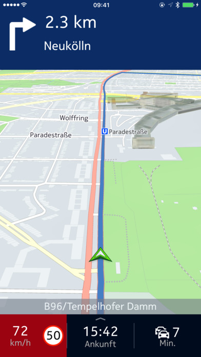 HERE WeGo - Routenplaner & offline Navigation Screenshot