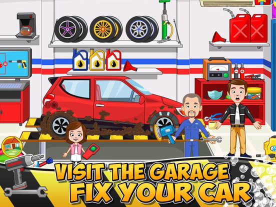My Town : Car (wash, fix & drive cars) Screenshots