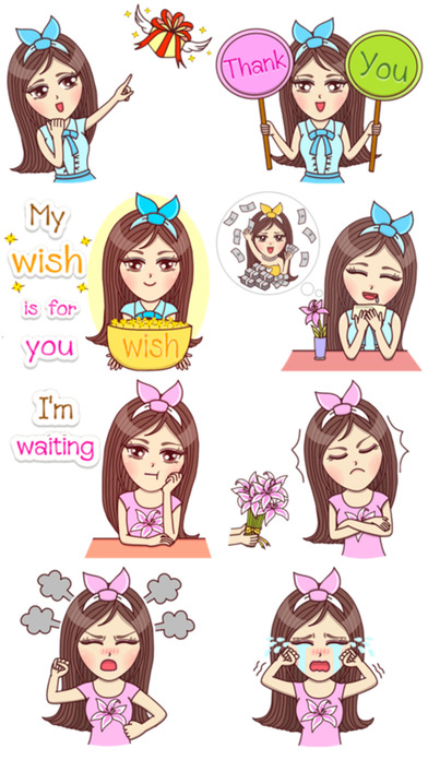 download Chic Girl Stickers! apps 4