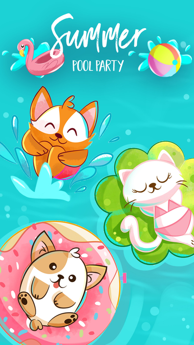 Summer Pool Party - Beach Pets