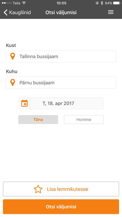 Screenshot for pilet.ee in Finland App Store