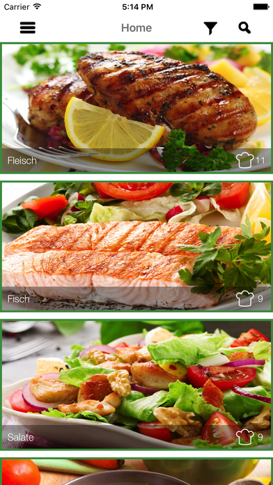 Screenshot for Low Carb Mittagessen Rezepte - Mittag in Germany App Store