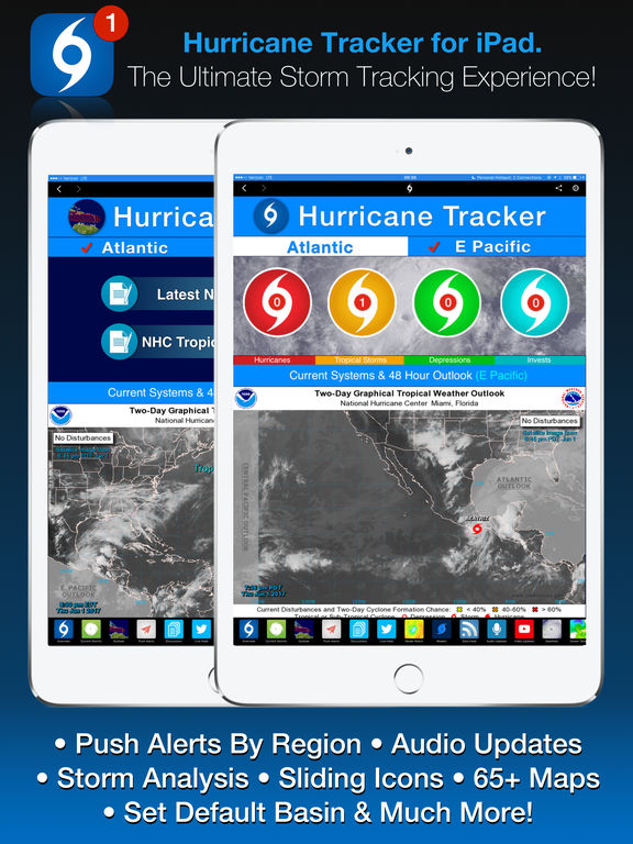 Hurricane Tracker For iPad Screenshots