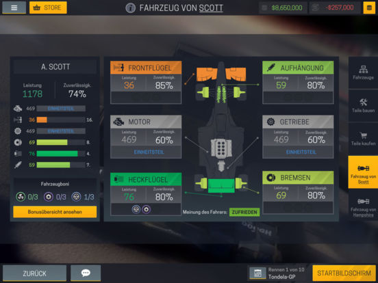Screenshot 3 Motorsport Manager Mobile 2