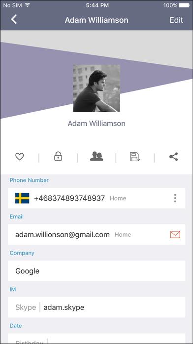 Qcontactz Screenshot