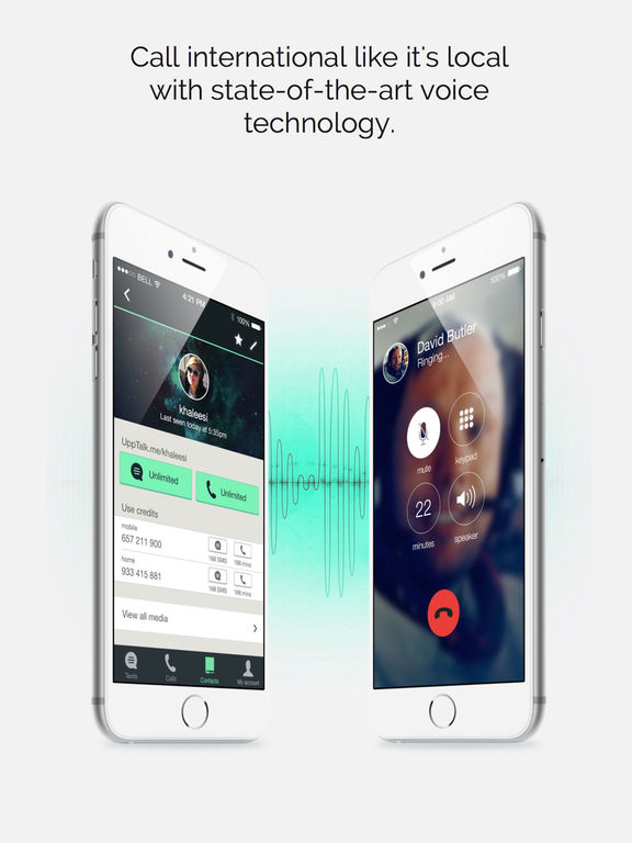 UppTalk - Free WiFi Calling and Texting with Gifs Screenshot