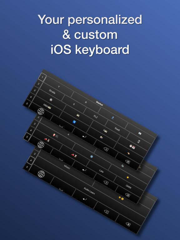 Shortcut Keyboard - Tastatur für Abkürzungen Screenshot