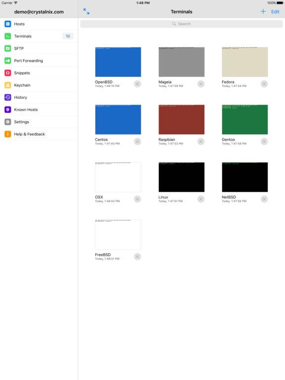 Termius - SSH Shell / Console / Terminal Screenshot