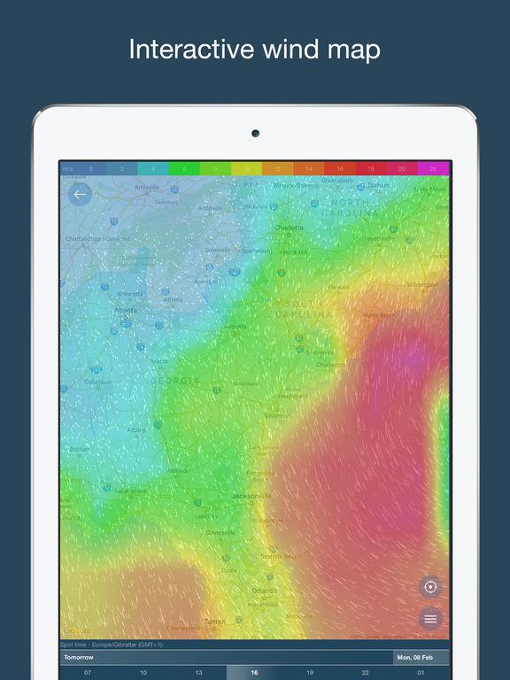 WINDY: Windvorhersage, Gezeiten, Wellen & Wetter Screenshot