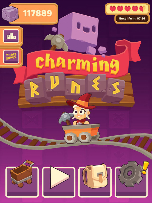 Charming Runes - Endless Arcade Block Breaker Screenshot
