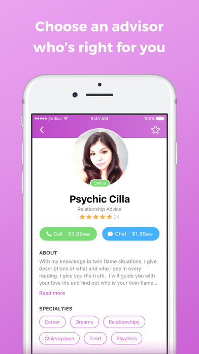 download Zodiac Touch - psychic reading and tarot readings appstore review