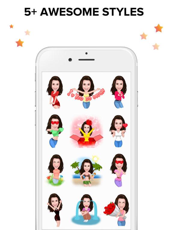 Ommy Stickers & Emoji Maker – Selfie Photo Editor Screenshot