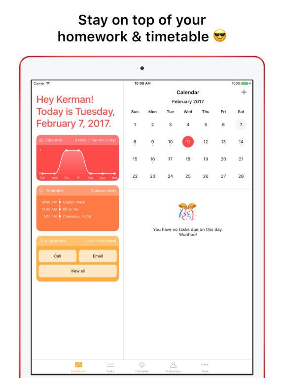 homework calendar app