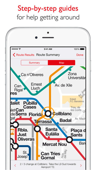 Barcelona Metro - TMB map and route planner Screenshot