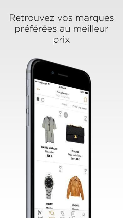 vestiaire collective achat vente mode de luxe 4 3 3 pour ios android windows phone